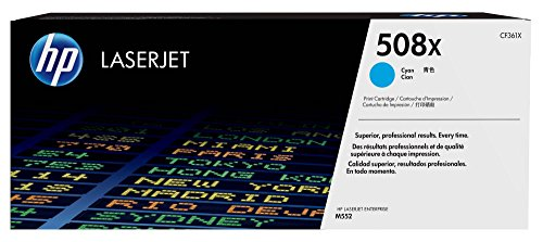 HP 508X (CF361X) Cyan High Yield Original LaserJet Toner Cartridge by HP