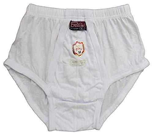 (100% Egyptian Cotton Mens Men Underwear Slip Pants Briefs White Brief Underwear (XL) )