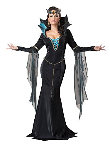 California Costumes Women's Evil Sorceress Adult, Black/Turquoise, X-Large
