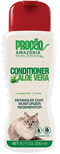 PROCÃO: Aloe Vera Pet Conditioner (6.7 oz) - Moisturize and Regenerate - Perfect for Sensitive Skin - All Natural - Antioxidants- Sustainably Sourced from Amazon Rainforest - No Parabens o
