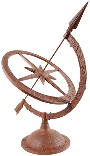 Esschert Design Large Cast Iron Sundial (TH36) (Sundial Design)