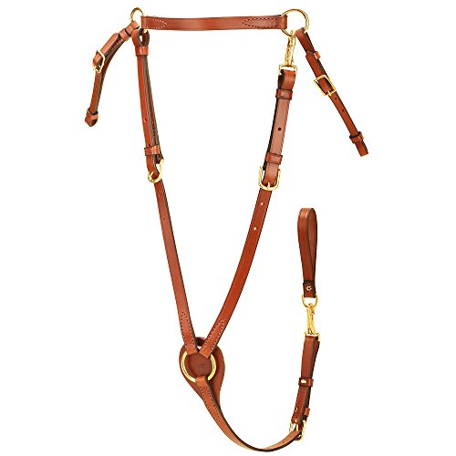 - Tory Leather Breastplate with Brass Snaps Oversize