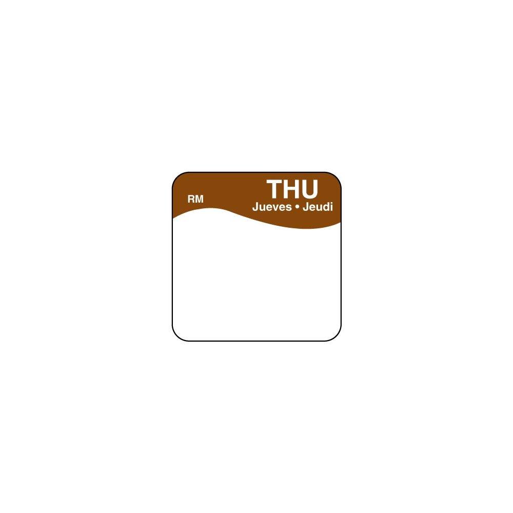 DayMark 1101114 ReMark Bilingual 1'' Thursday Day Square - 1000 / RL