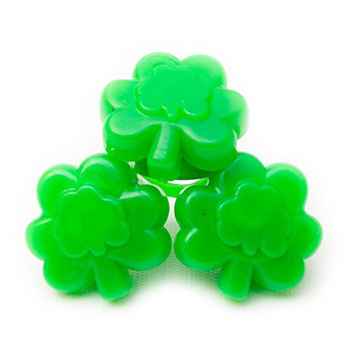 Mammoth Sales 24ct Box LED Green Shamrock Lot of Light Up Flashing Rings