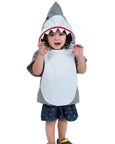 (Cosplay.fm Children's Shark Halloween Costume Mascot Hoodie (Gray))