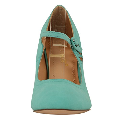 Style Mary Pierced Chase Dress Mid Heel Kimmy Women's amp; 21 Jane Chloe Round Toe Pumps Mint BUBS07qn
