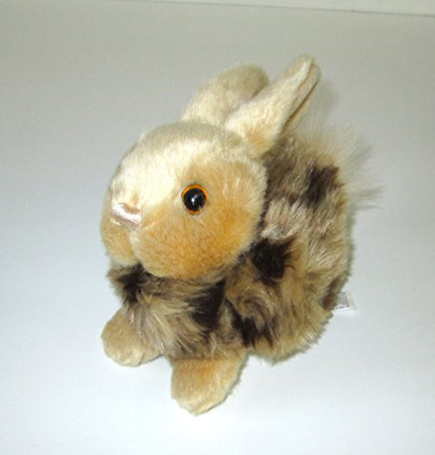 Odyssey Online Musical Plush Stuffed Animal - Realistic Rabbit Brown with Spots with Music Box Movement Inside - Brahms Lullaby - Bunny