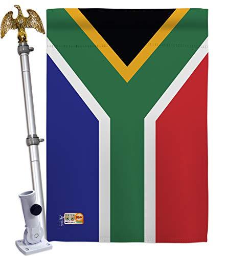 Americana Home & Garden HS140218-BO-02 South Africa World Nationality Decorative Vertical House Flag Set, 28
