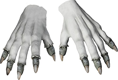 Stephen King It Costume (Morbid Enterprises Pennywise Gloves, White/Grey, One Size)