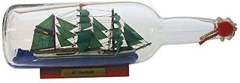 linoows Barco en Botella Ron Botella Alexander V. Humboldt, Nave Botella 29CM