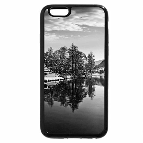 iPhone 6S Plus Case, iPhone 6 Plus Case (Black & White) - Winter lake