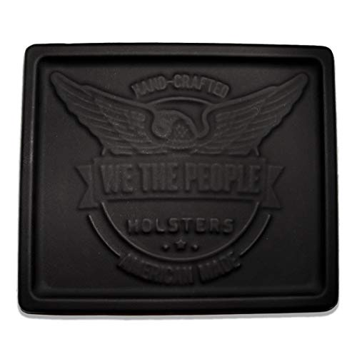 (We The People Holsters - Custom Logo EDC Kydex Dump Tray - Personalised Valet Tray for Men - EDC Organizer and Catch-All for Everyday Carry, Keys, Change, Phone (Black))