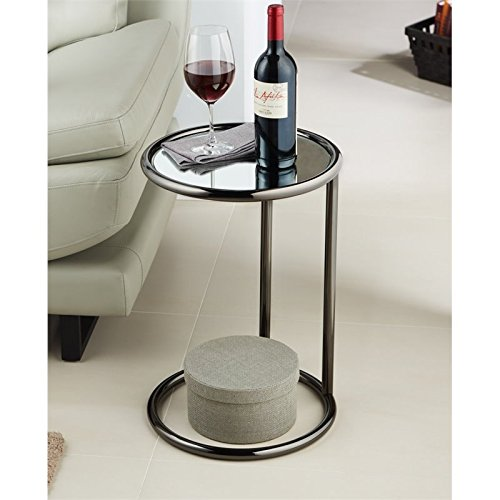 Furniture of America Caenes Contemporary End Table in Black