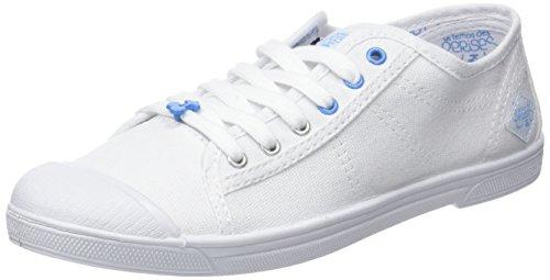 Le Temps des Cerises Basic 02_Femme - Baskets - Femme Blanc (Sport Blue)