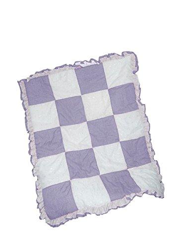 Baby Doll Bedding Gingham/Eyelet Patchwork Crib Comforter, Lavender