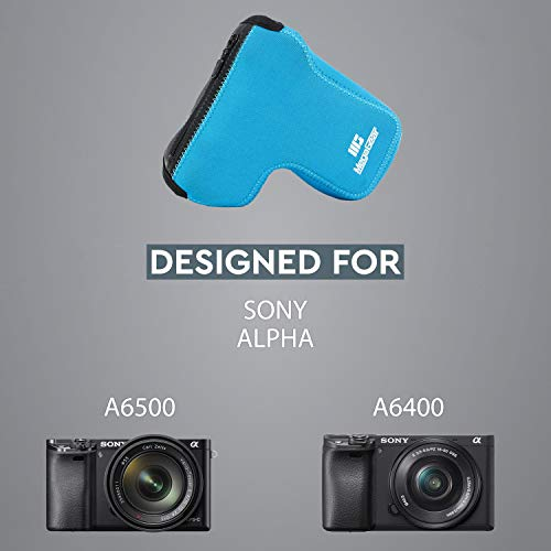 MegaGear MG1501 Sony Alpha A6400, A6500 (18-135mm) Ultra Light Neoprene Camera Case - Blue