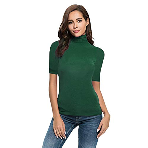 c832a9446cb QIQIU Womens Sexy Turtleneck Solid Slim Fit Summer for sale Delivered  anywhere in USA