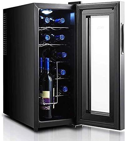 YFGQBCP Gabinete del Vino es pequeño y Compacto, con Dos Capas de Vidrio Templado El diseño impide Que los Rayos UV Hueco y Gruesas