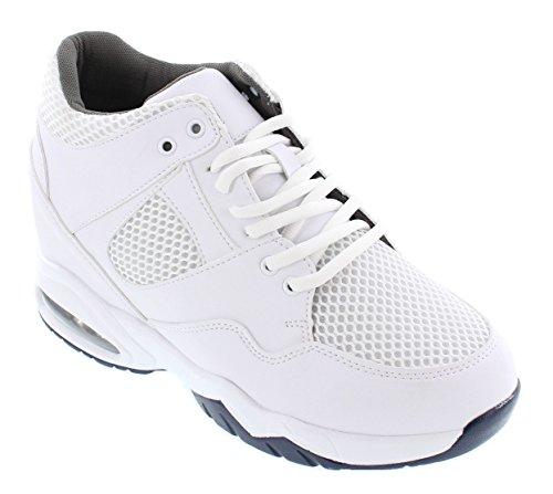CALTO H329081, A Collo Basso Uomo, Bianco (White), 39,5 EU