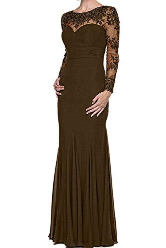 Festlichkleider mia La Lang Braut Etuikleider Brautmutterkleider Standsamt Braun Partykleider Kleider Abendkleider Schwarz Fww1d8