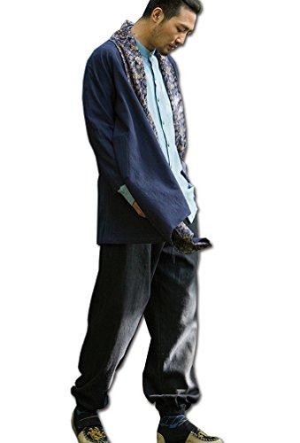 YINGYUE-Mens-MF-Irregular-Double-faced-Hemp-Overshirt