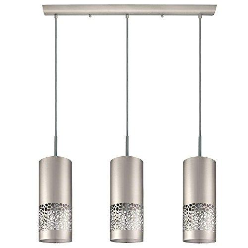 (Eglo Carmelia 3-Light Satin Nickel Hanging Light-201425A)