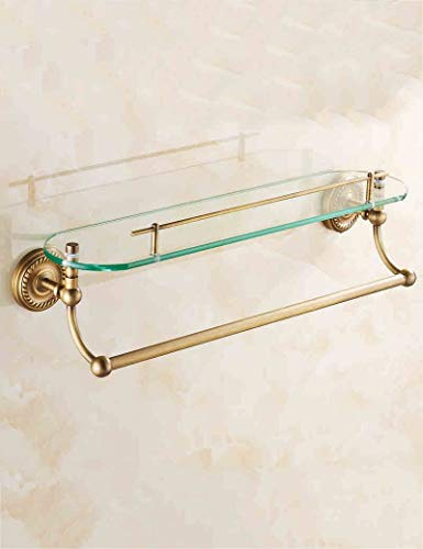 (Plateau of Shower Extremely Closes All Former of Copper in The Layer Double Vanity Glass Shelf Cosmetic Framework Bains Storage Rack with Bar of Towel Ensuring The Quality)