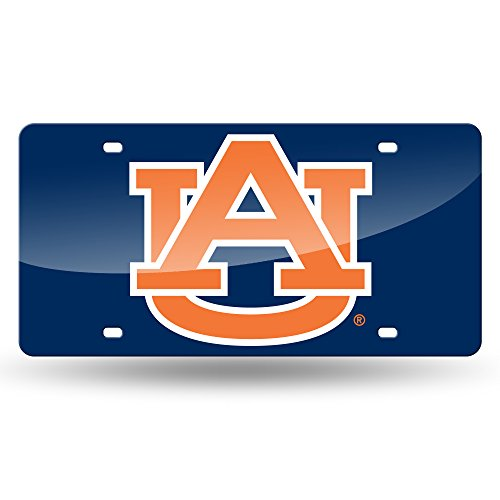 (NCAA Auburn Tigers Laser Inlaid Metal License Plate Tag)