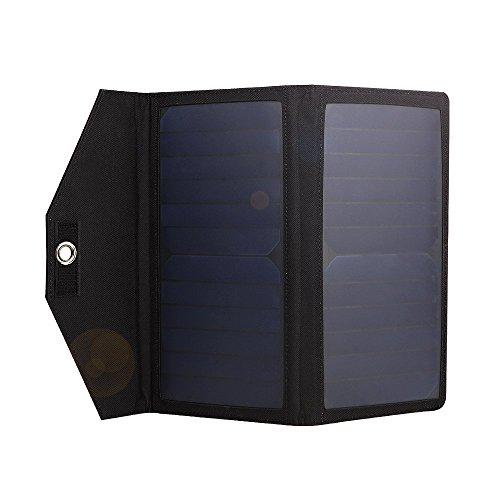 allimity 2 USB Ports Folding Portable Solar Battery ...
