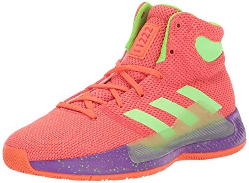 adidas Unisex Pro Bounce Madness 2019, True Orange/Solar Green/Shock red, 7 M US Big Kid