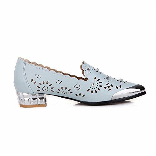 Zapatos Con Cordones Charm Foot Para Mujer Comfort Low Heel Brogue Azul