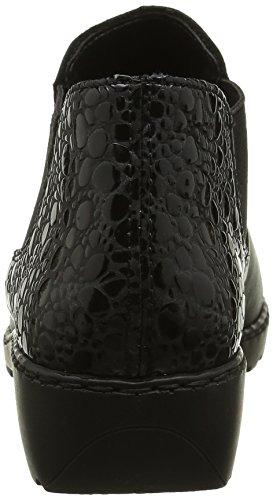 Bottes Femme Schwarz Rieker L6090 Noir Granit 00 Chelsea xqFqOt5Sw
