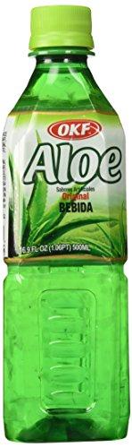 OKF Aloe Originial Drink 500 Ml (Pack of 10) (Drinks Aloe Vera Pulp With)