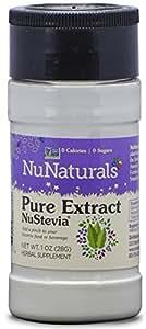 NuNaturals Nustevia  Pure White Stevia Extract , 1-Ounce