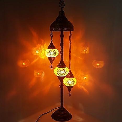 de TURQUÍA marroquí Tiffany Estilo Cristal Mosaico Lámpara ...