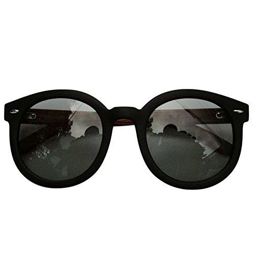 [Hikote #6600 Man Women Summer Woodden Fashion Personality Sunglasses(C3)] (Morpheus Costumes Sunglasses)