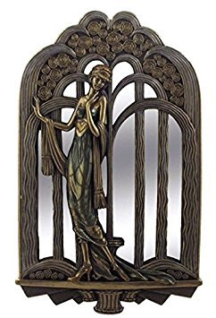 14.5 Inch Art Deco Wall Mirror Fashion Lady Interior Design Decor Gift ()