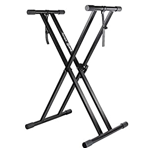 Store heavy electronic digital keyboards on the portable and pre-assembled double-X Xfinity keyboard stand. While most other keyboard stand models only include a few preset height adjustments, the quick release mechanism allows pianists to adjust the...