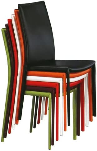 Sedie In Ecopelle Colorate.Iloveinteriors Sedia In Ecopelle Colorata Beatrice Amazon It