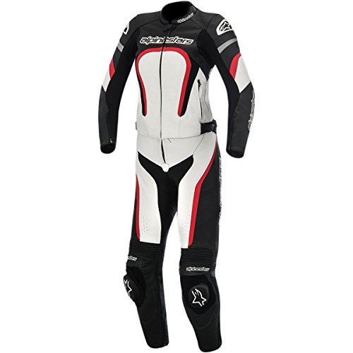 omen's 2-Piece Street Motorcycle Race Suits - Black/White/Red / 42 ()