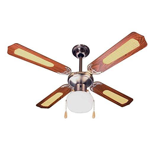 Zephir zfs9107m Fan Decorative Ceiling Light E27, 60W, Brown ZFS9107M