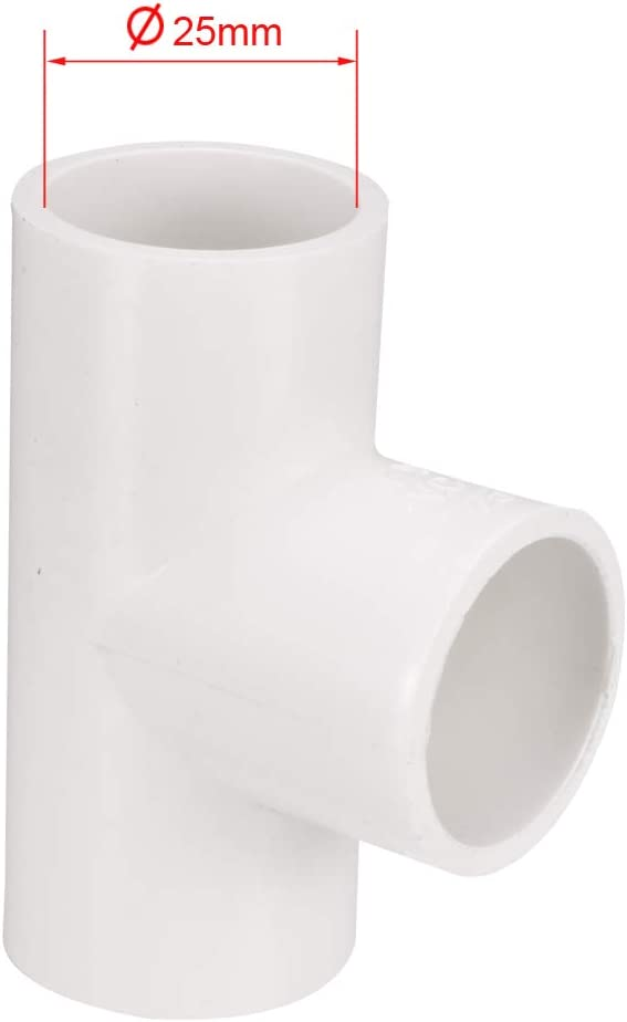 Amazon Com Uxcell 25mm Slip Tee Pvc Pipe Fitting T Shaped Coupling Connector 10 Pcs Home Improvement