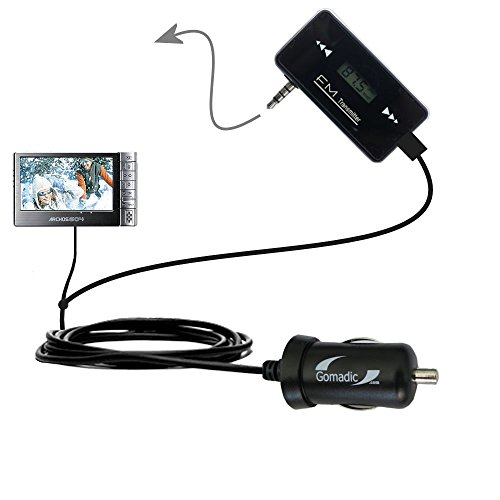 Wireless New Generation FM Transmitter desinged for Archos 604 with Powerful Compact Car Charger Included