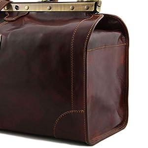 Tuscany Leather – Madrid – Gladstone Leather Bag – Large Size Black – TL1022/2
