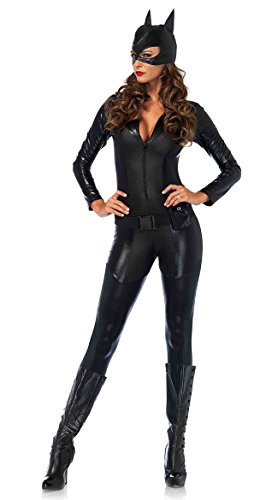 Leg Avenue Women's Sexy Crime Fighter Costume, Black, Small