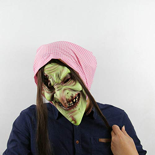 LX68LX Full Face Latex Masks Fairytale Old Witch Stage mask Props Masquerade Cartoon Party Old Witch Latex mask Dance Party Props -