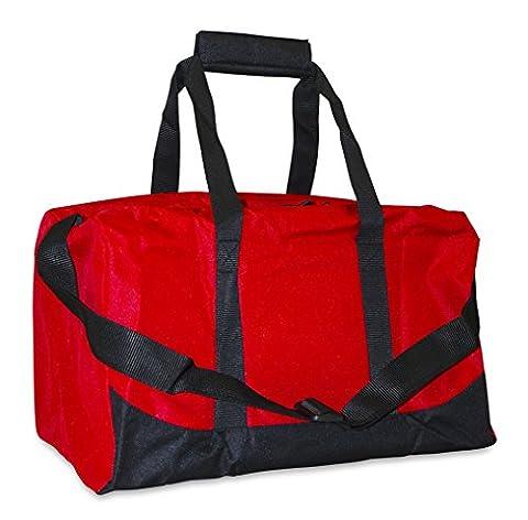 Sports Duffle Bag Small Red - Black Label Duffel