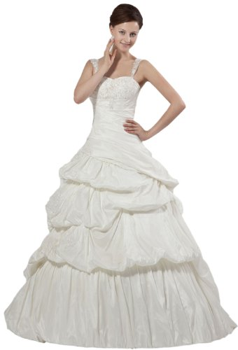 Albizia Sweetheart Court Train Pleated Maternity Wedding Dresses(22,White) by ALBIZIA