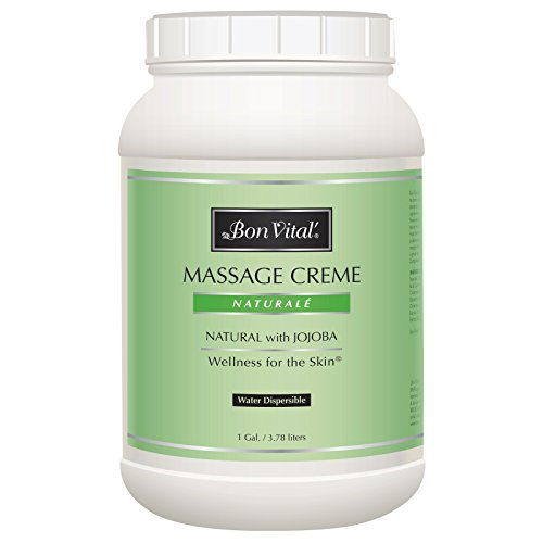 (Bon Vital' Naturale Massage Crème, Professional Massage Therapy Cream with Natural Ingredients for an Earth-Friendly & Relaxing Massage, Full Body Daily Moisturizer for Smooth Skin, 1 Gallon Jar)