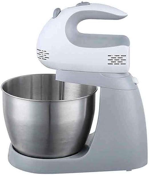 Batidora Amasadora, Amasadora de Repostería Profesional Robot de Cocina Automática Multifuncional 5 Velocidades Amasadoras de Pan 5 litros, (220V), Blanco: Amazon.es